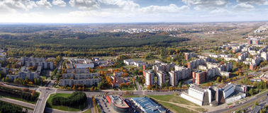 Le panorama de ville de Vilnius Photo stock