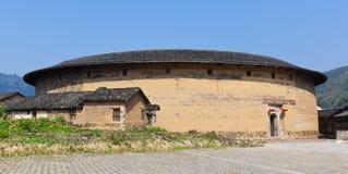 Le panoramique de la construction ronde de la terre de Hakka Photographie stock