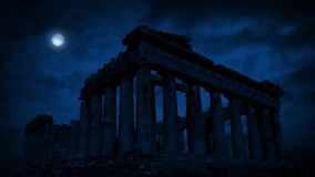Le Panthéon la nuit banque de vidéos