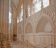 Le Panthéon royal dans le monastère de Batalha Photographie stock