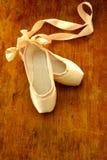 Le pantofole di balletto Fotografie Stock Libere da Diritti