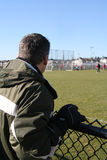 Le papa du football Image libre de droits