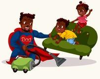 Le papa est affiche colorée de super héros illustration libre de droits