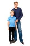 Le papa et le fils sont dans le studio Images stock