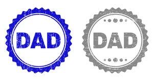 Le PAPA grunge a donné à des timbres une consistance rugueuse illustration libre de droits