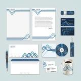le papier abstrait a plié le fond de modèle pour l'ensemble d'identité d'entreprise illustration stock