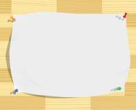 le papier bariolé goupille le bois de blanc de texture de feuille illustration de vecteur