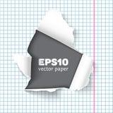 Le papier déchiré de carnet rapièce le vecteur réaliste illustration stock