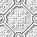 Le papier 3d floral a coupé le fond sans couture de modèle de style Pour l'invitation carde la décoration Illustration de vecteur Photographie stock
