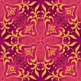 Le papier 3d floral a coupé le fond sans couture de modèle de style Pour l'invitation carde la décoration Illustration de vecteur Images stock