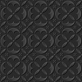 Le papier 3D foncé sans couture a coupé la géométrie ronde élégante de croix de courbe du fond 387 d'art Illustration Stock