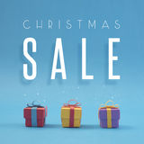 Le papier de vente de Noël a coupé la boutique de cadeaux faite main de couleur Images libres de droits