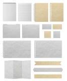 Le papier donne au fond une consistance rugueuse d'isolement sur le fond blanc Image libre de droits