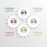 Le papier embraye infographic Photo libre de droits