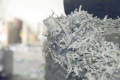 Le papier empilé et a emballé et prépare pour réutiliser Photographie stock libre de droits
