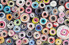 Le papier entoure le fond fait main coloré Image libre de droits