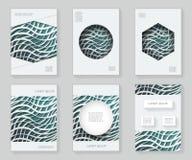 Le papier ondule 3d au-dessus de livret décoratif de brochure de livre d'ornement de cadre de modèle de conception abstraite colo Image libre de droits