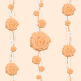 Le papier peint floral est pour une salle d'enfant Photographie stock