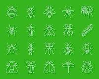 Le papier simple d'insecte de danger a coupé l'ensemble de vecteur d'icônes illustration stock