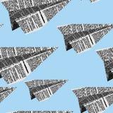 Le papier surface le modèle sans couture sur un fond bleu Ornam de vecteur illustration stock