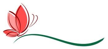 Le papillon de logo illustration libre de droits