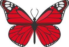 Le papillon rouge illustration libre de droits