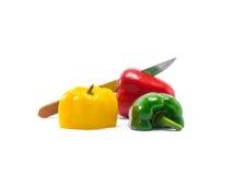 Le paprika est ingrédient dans une alimentation saine Image libre de droits