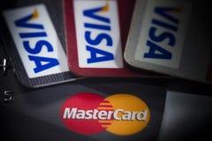Le par la carte de crédit Photo stock