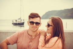 Le par på havet Royaltyfria Foton