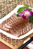 le paraboloïde délicieux froid chinois de boeuf a séché la part de nourriture Images libres de droits