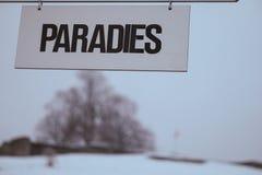 le paradis Photos libres de droits