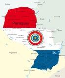 Le Paraguay illustration de vecteur