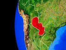 Le Paraguay de l'espace illustration libre de droits