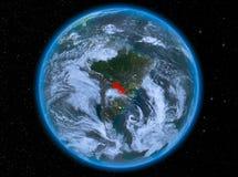 Le Paraguay la nuit sur terre Images stock