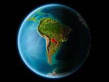 Le Paraguay le soir Photographie stock