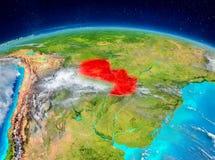 Le Paraguay sur terre Image stock