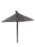 Le parapluie de plage a isolé image libre de droits