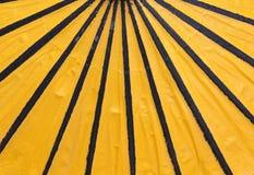 Le parapluie jaune Image libre de droits