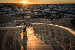 Le parasol de Metropol, soies De Séville, Espagne photographie stock