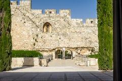 Le parc archéologique Davidson Center à Jérusalem, Israël Image libre de droits