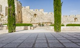 Le parc archéologique Davidson Center à Jérusalem, Israël Image stock