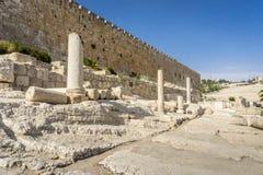 Le parc archéologique Davidson Center à Jérusalem, Israël Photo stock
