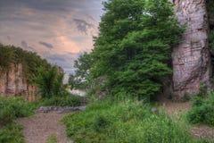 Le parc d'état de palissades est dans le Dakota du Sud par Garretson images libres de droits