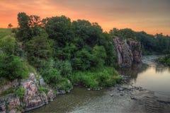 Le parc d'état de palissades est dans le Dakota du Sud par Garretson photo stock