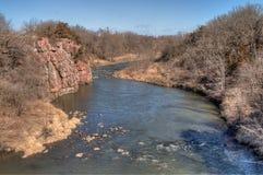 Le parc d'état de palissades est dans le Dakota du Sud près de la ville des mansardes photo libre de droits