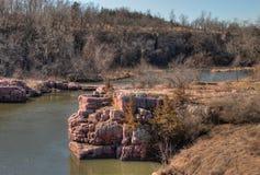 Le parc d'état de palissades est dans le Dakota du Sud près de la ville des mansardes image libre de droits