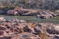 Le parc d'état de palissades est dans le Dakota du Sud près de la ville des mansardes photos libres de droits