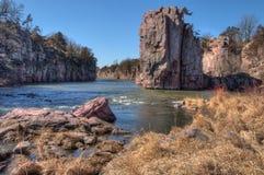 Le parc d'état de palissades est dans le Dakota du Sud près de la ville des mansardes photo stock