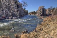 Le parc d'état de palissades est dans le Dakota du Sud près de la ville de Garretson images libres de droits