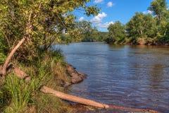 Le parc d'état d'un état à un autre est situé sur le St Croix River près de Taylo Photographie stock